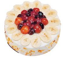 Meyvali 4 ile 6 kisilik yas pasta leziz  Çorum çiçekçi mağazası