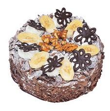 Muzlu çikolatali yas pasta 4 ile 6 kisilik   Çorum anneler günü çiçek yolla