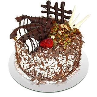 4 ile 6 kisilik çikolatali yas pasta  Çorum yurtiçi ve yurtdışı çiçek siparişi