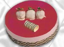 pasta siparisi 4 ile 6 kisilik yas pasta çilekli yaspasta  Çorum kaliteli taze ve ucuz çiçekler