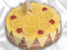 taze pastaci 4 ile 6 kisilik yas pasta limonlu yaspasta  Çorum cicekciler , cicek siparisi