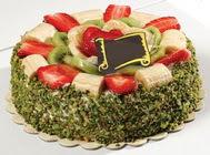 pasta gönder  4 ile 6 kisilik karisik meyvali yas pasta  Çorum online çiçek gönderme sipariş