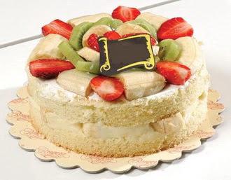 pasta siparisi 4 ile 6 kisilik karisik meyvali yas pasta  Çorum kaliteli taze ve ucuz çiçekler
