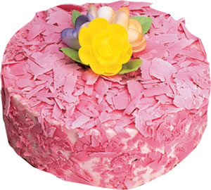 pasta siparisi 4 ile 6 kisilik framboazli yas pasta  Çorum çiçekçi telefonları
