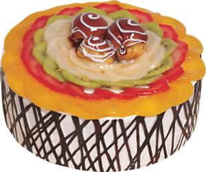 pasta siparisi 4 ile 6 kisilik meyvali yas pasta  Çorum ucuz çiçek gönder