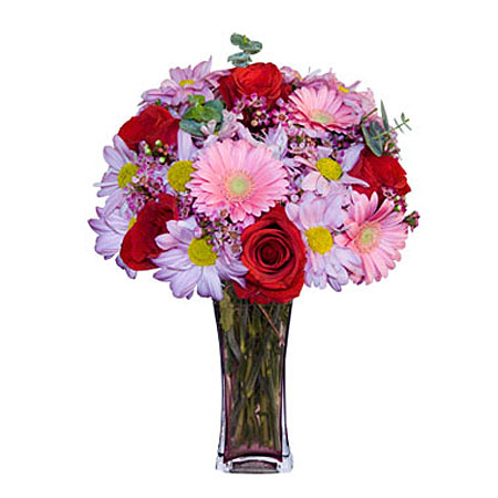 Görsel hediye karisik cam mevsim demeti  Çorum internetten çiçek satışı