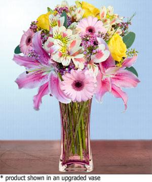 Anneme hediye karisik cam mevsim demeti  Çorum online çiçek gönderme sipariş