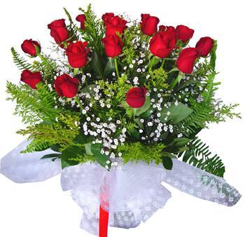 11 adet gösterisli kirmizi gül buketi  Çorum internetten çiçek siparişi