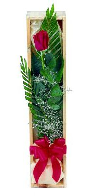 1 adet kutuda kirmizi gül  Çorum çiçek gönderme