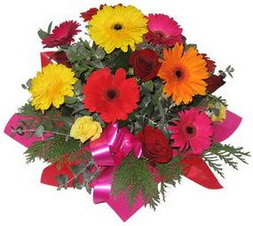 Karisik mevsim çiçeklerinden buket  Çorum çiçek servisi , çiçekçi adresleri