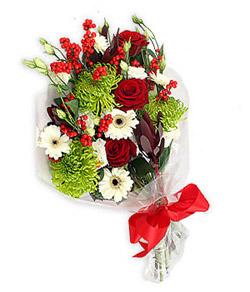 Karisik mevsim buketi çiçek tanzimi  Çorum online çiçek gönderme sipariş