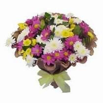 Çorum çiçek , çiçekçi , çiçekçilik  Mevsim kir çiçegi demeti