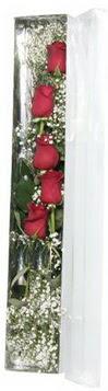 Çorum çiçekçiler   5 adet gülden kutu güller