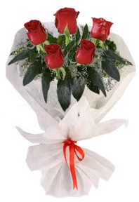 5 adet kirmizi gül buketi  Çorum çiçek siparişi vermek