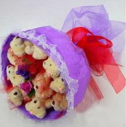 11 adet ayiciktan buket  Çorum online çiçek gönderme sipariş