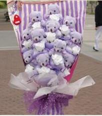 11 adet pelus ayicik buketi  Çorum çiçek gönderme