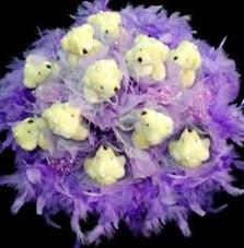 11 adet pelus ayicik buketi  Çorum hediye çiçek yolla