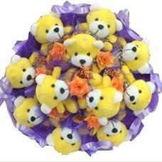 11 adet pelus ayicik buketi  Çorum güvenli kaliteli hızlı çiçek