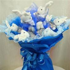 7 adet pelus ayicik buketi  Çorum hediye çiçek yolla