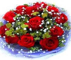 9 adet kirmizi güllerden buket  Çorum çiçek , çiçekçi , çiçekçilik