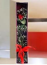 kutu içinde tek kirmizi gül  Çorum çiçek mağazası , çiçekçi adresleri