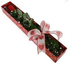 Tek kirmizi gül kutu içerisinde  Çorum online çiçekçi , çiçek siparişi
