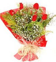 Çorum çiçek online çiçek siparişi  5 adet kirmizi gül buketi demeti