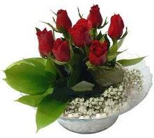 Çorum internetten çiçek siparişi  cam yada mika içerisinde 5 adet kirmizi gül