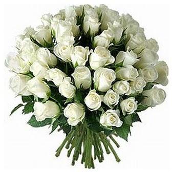 Çorum kaliteli taze ve ucuz çiçekler  33 adet beyaz gül buketi