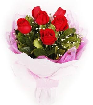 Çorum çiçek servisi , çiçekçi adresleri  kırmızı 6 adet gülden buket