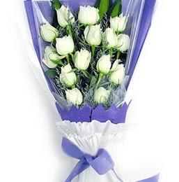 Çorum internetten çiçek satışı  11 adet beyaz gül buket modeli