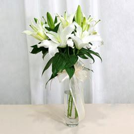 Çorum çiçek online çiçek siparişi  2 dal kazablanka ile yapılmış vazo çiçeği