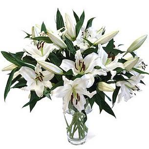 Çorum çiçek , çiçekçi , çiçekçilik  3 dal görsel casablanca vazo tanzimi