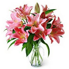 3 dal kazablanka görsel vazosu  Çorum online çiçek gönderme sipariş