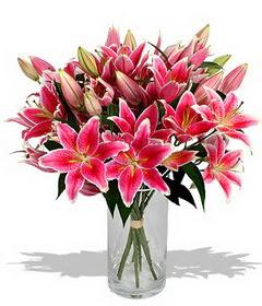 4 dal cazablanca görsel vazosu  Çorum internetten çiçek satışı