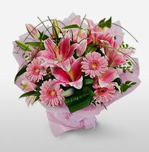 1 dal kazablanka ve kır çiçek görsel buketi  Çorum internetten çiçek siparişi