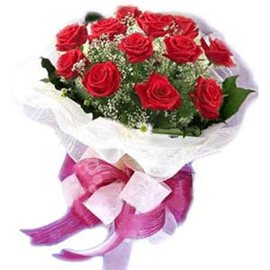 Çorum ucuz çiçek gönder  11 adet kırmızı güllerden buket modeli