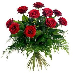 Çorum çiçek satışı  10 adet kırmızı gülden buket