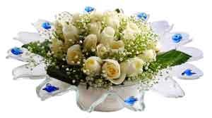 Çorum çiçek mağazası , çiçekçi adresleri  11 adet Beyaz güller özel cam tanzim