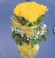 Çorum çiçek online çiçek siparişi  Cam vazoda 9 Sari gül