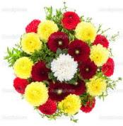 Çorum internetten çiçek satışı  13 adet mevsim çiçeğinden görsel buket