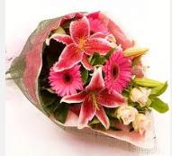 1 dal kazablanka ve mevsim çiçekleri  Çorum online çiçek gönderme sipariş