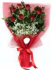 7 adet kırmızı gülden buket tanzimi  Çorum uluslararası çiçek gönderme