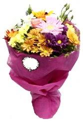 1 demet karışık görsel buket  Çorum çiçek online çiçek siparişi
