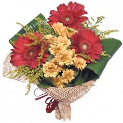 karışık mevsim buketi  Çorum internetten çiçek satışı