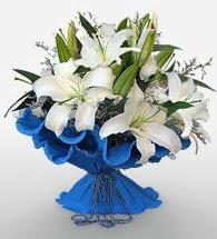 4 dal kazablanka çiçeğinden buket  Çorum uluslararası çiçek gönderme
