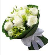 9 adet beyaz gül buketi  Çorum çiçekçiler