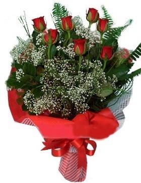 7 kırmızı gül buketi  Çorum kaliteli taze ve ucuz çiçekler