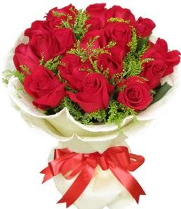 19 adet kırmızı gülden buket tanzimi  Çorum kaliteli taze ve ucuz çiçekler