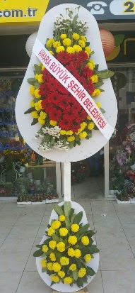 Çift katlı düğün nikah açılış çiçek modeli  Çorum internetten çiçek satışı